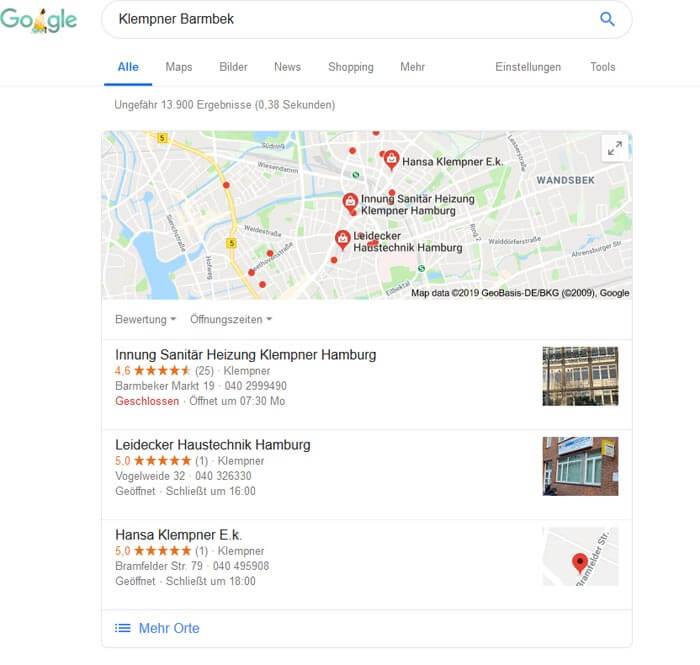 Google Firmeneintrag